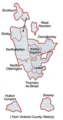 Map of Allertonshire Wapentake
